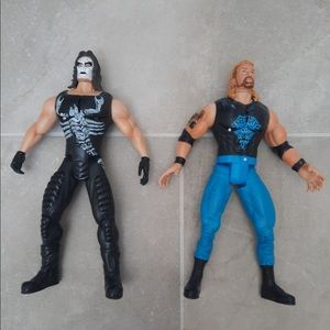 WCW Sting and Diamond Dallas Wrestling Figures Lot